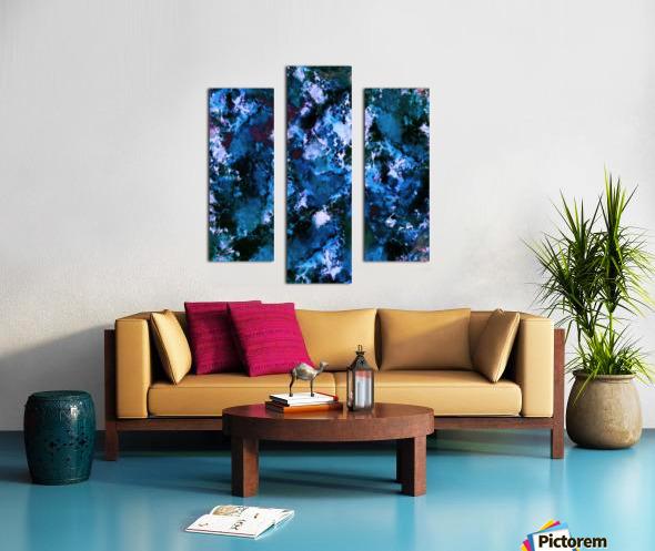 Smouldering blue Impression sur toile