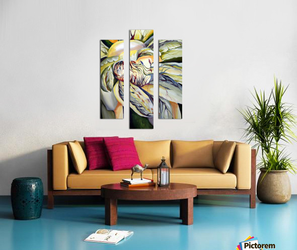 Artdeco Structural Flower Petals Canvas print