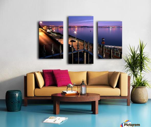 Swansea Bay at night Canvas print