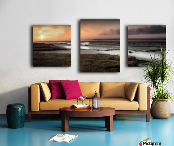 Penclawdd marsh sunset Canvas print