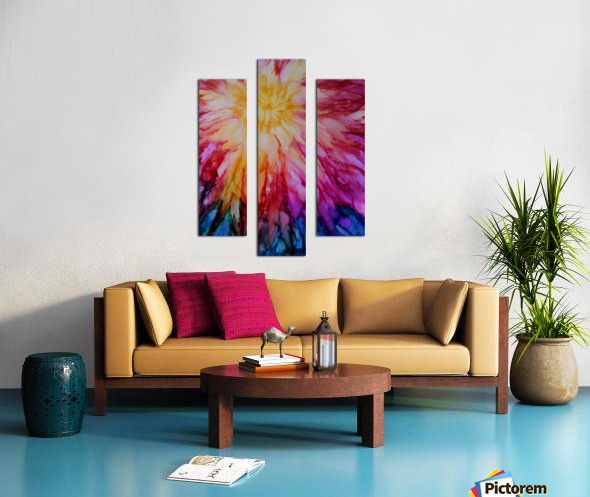 Rainbow Bloom Canvas print