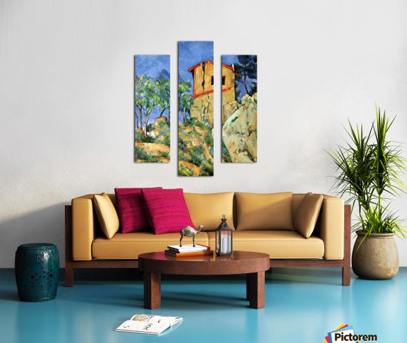 House with Walls by Cezanne Canvas print