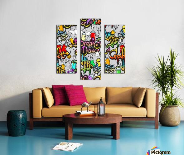 hip hop background Canvas print