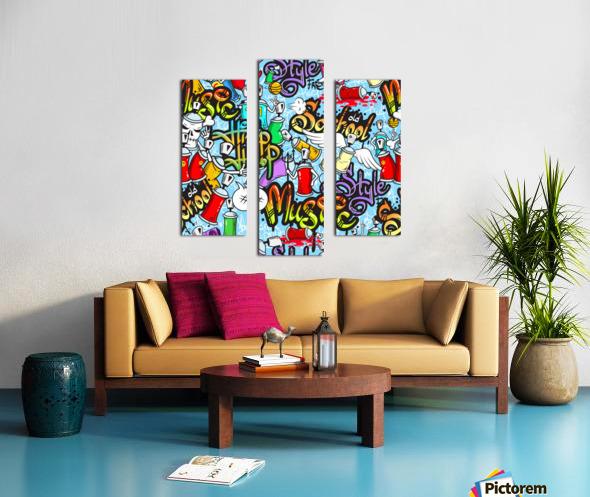graffit characters seamless pattern Canvas print
