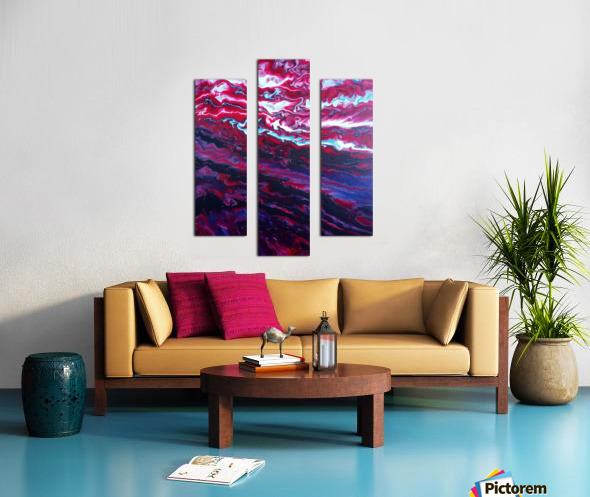 Red and purple sunset Canvas print