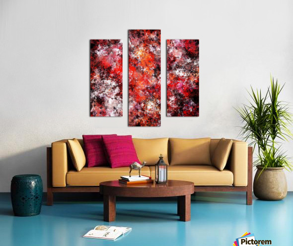 The red sea foam Canvas print