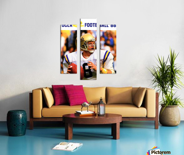 retro college sports posters ucla bruins football Canvas print