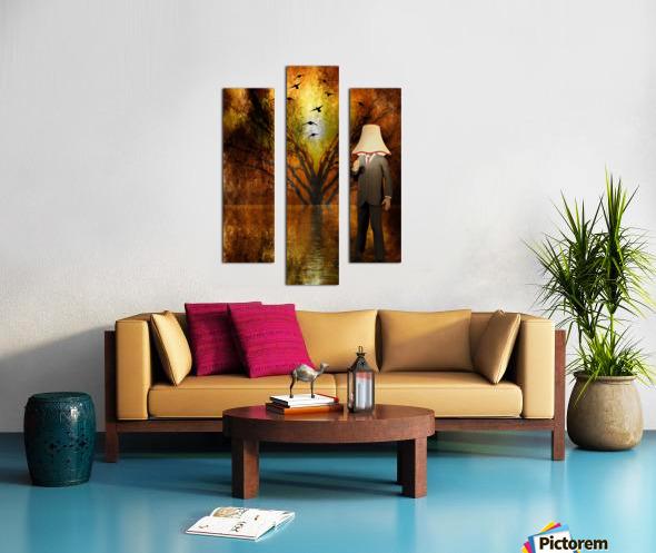Lamp Man Canvas print