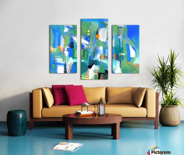 Azure Ascent Canvas print