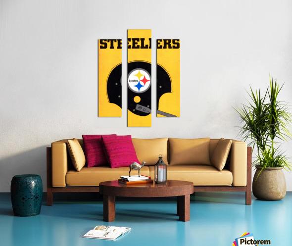 1968 Pittsburgh Steelers Helmet Art Canvas print