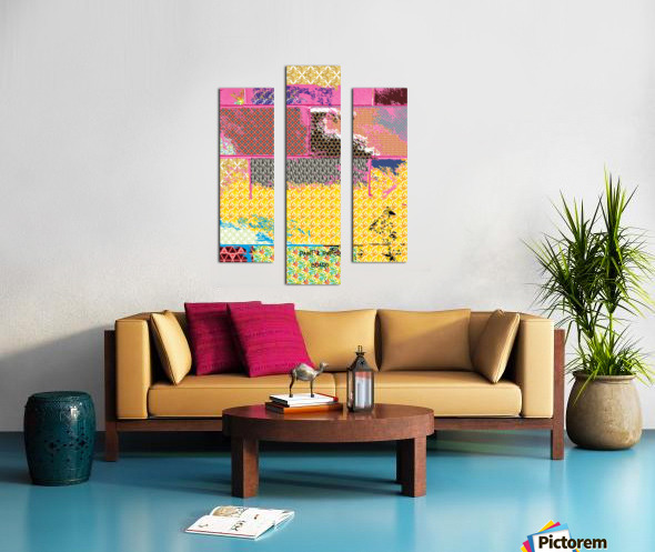paint and paper board Canvas print
