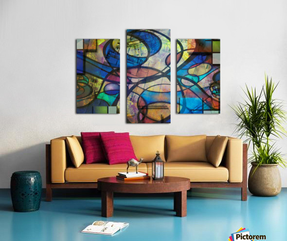 Trendy Abstract Art Canvas print
