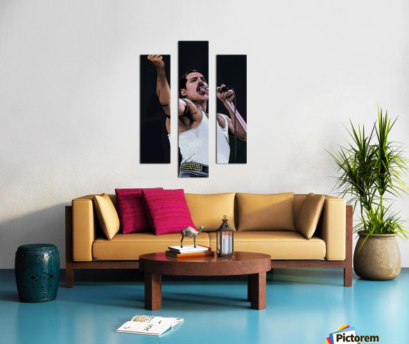 Freddie Mercury of Queen Canvas print