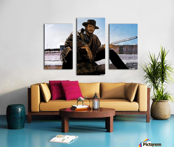 Clint Eastwood as The Man With No Name Canvas print