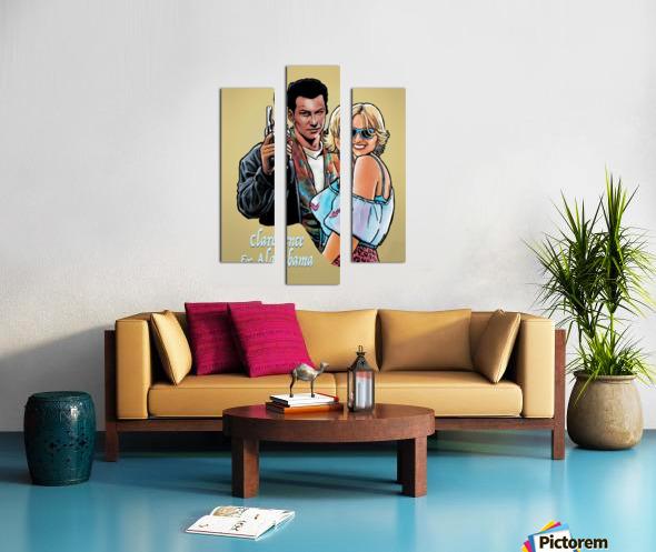 Tarantino: True Romance - Clarence and Alabama Canvas print