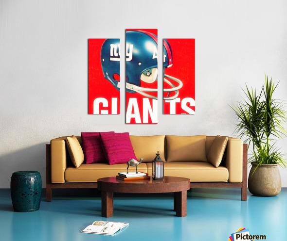 Vintage New York Giants Football Helmet Art Canvas print