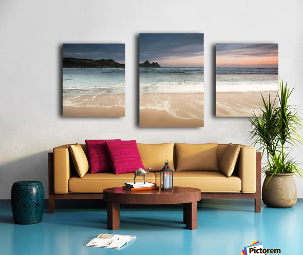 Three Cliffs Bay Swansea Canvas print