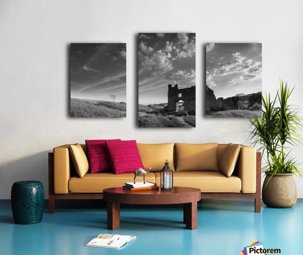 Pennard castle Gower Canvas print