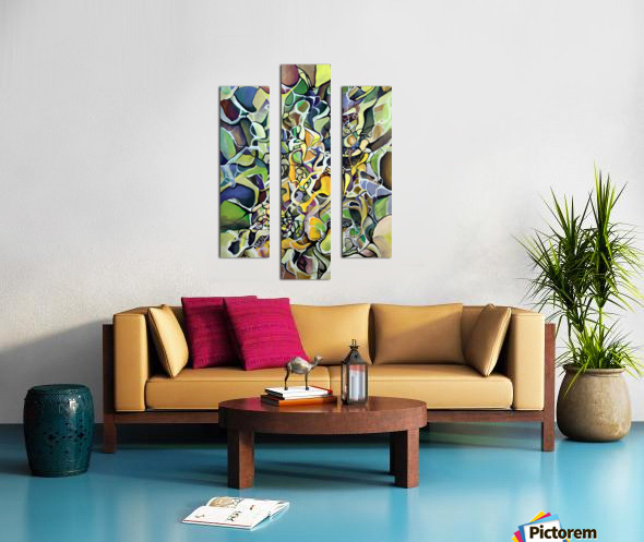 Chaos Theory in Interlacing Style  Canvas print