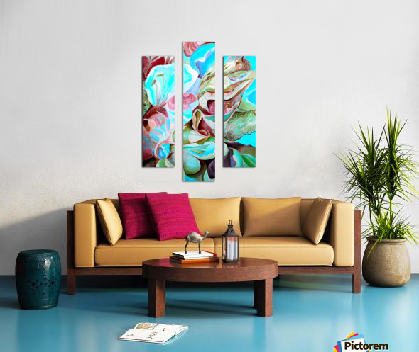Realm of Tropical Exotic Nature Pattern Canvas print