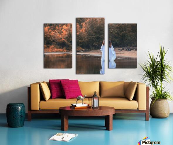 La dame du lac 2 Canvas print