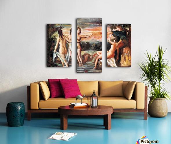 Judgement of Paris by Cezanne Canvas print