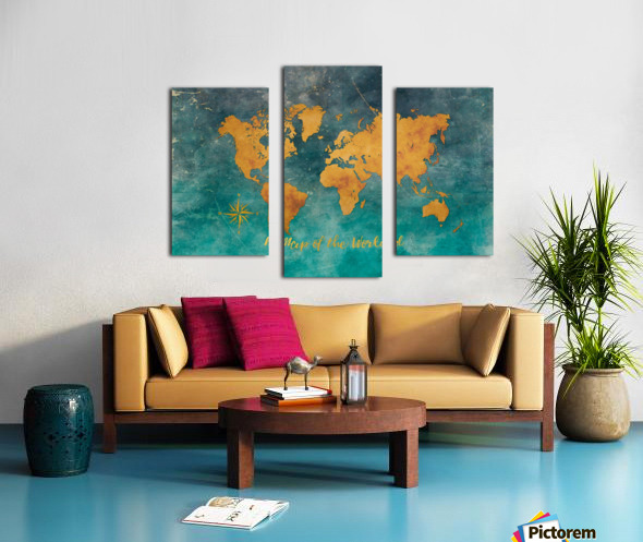 World Map 3 Canvas print