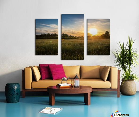 Creekside Sunset 1 Canvas print
