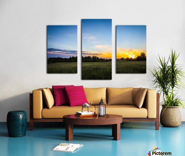 Creekside Sunset 2 Canvas print