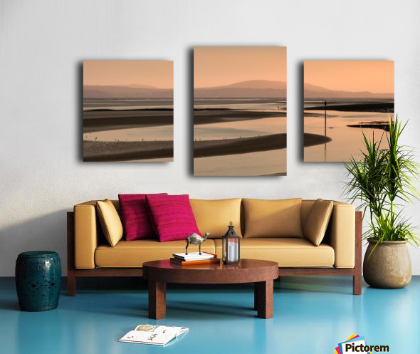 Loughor estuary at dusk Canvas print