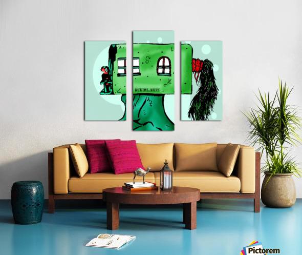 House Man  Canvas print