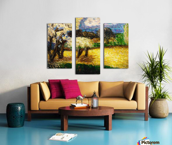 Yellow Summer Fields Canvas print