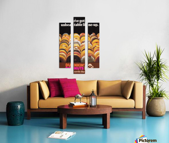 vintage dunkin donuts ad Canvas print