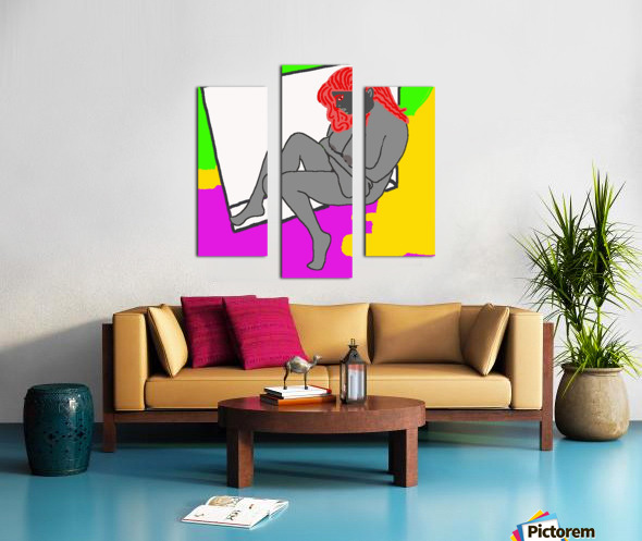 AI Woman Canvas print
