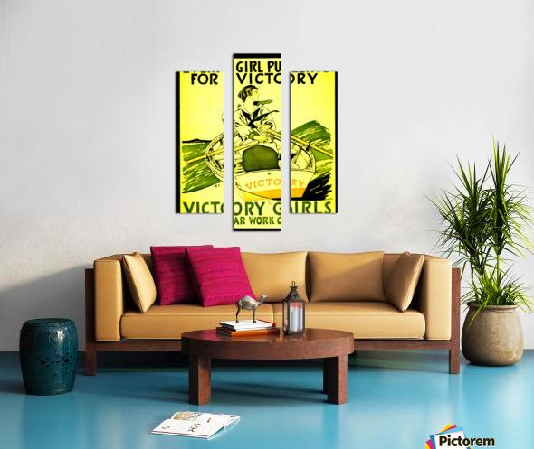 Victory Girls Canvas print