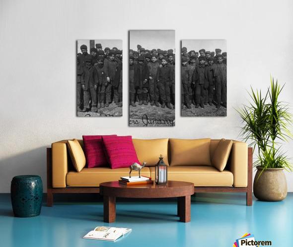 Coal Miners January 1911 Canvas print
