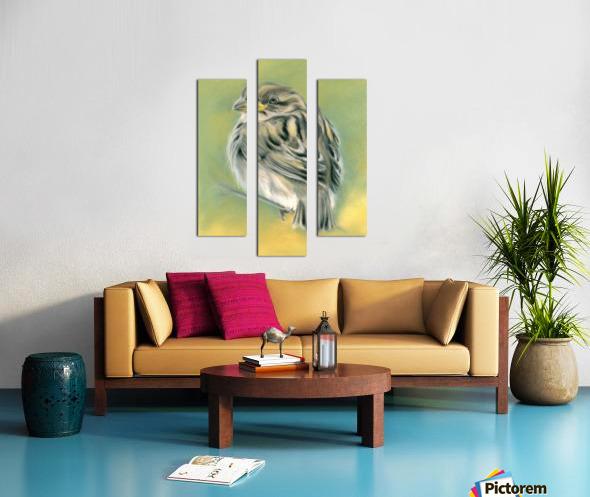 Sunny Sparrow Canvas print