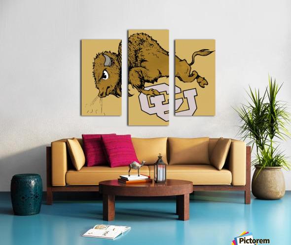 vintage cu colorado buffaloes art Canvas print
