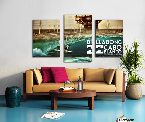 2015 BILLABONG Cabo Blanco Print - Surfing Poster Canvas print