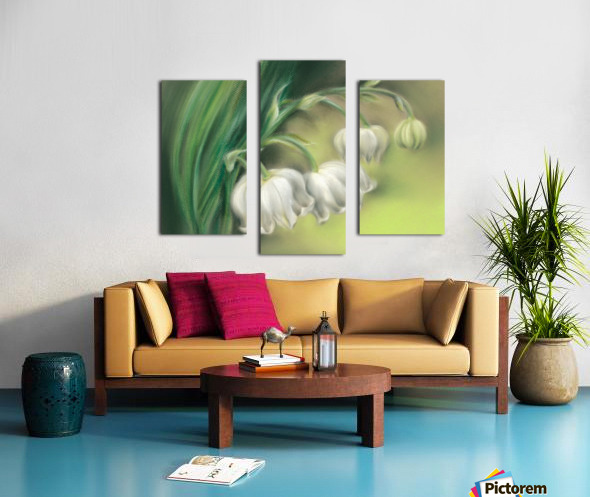 Lily of the Valley Flowers Canvas print