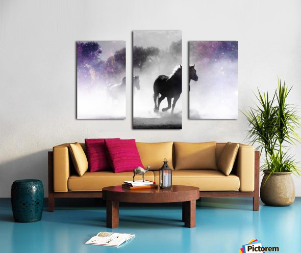 Wild Horses in Nature Canvas print