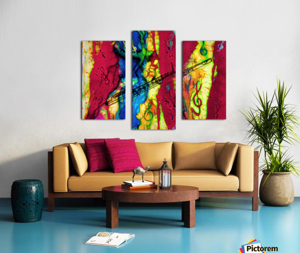 Flute Electrified Canvas print