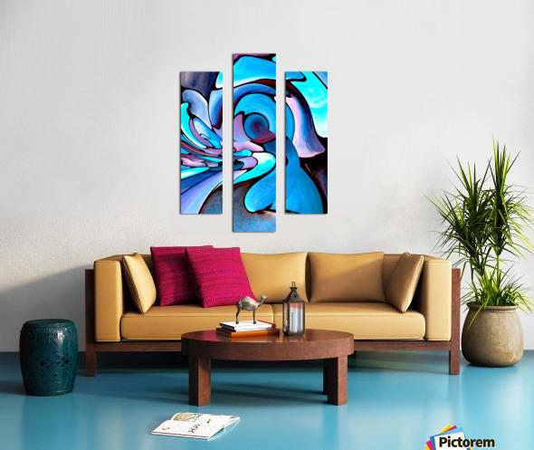 Twisted Splash of Blue Shapes  Canvas print