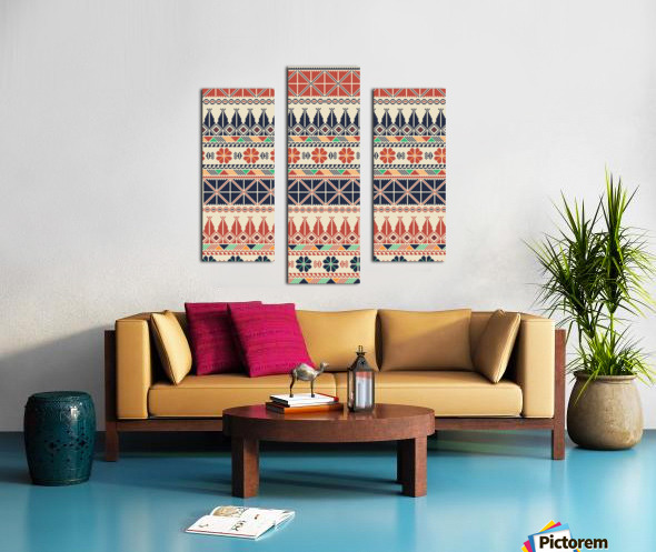 Palestinian embroidery pattern  Canvas print