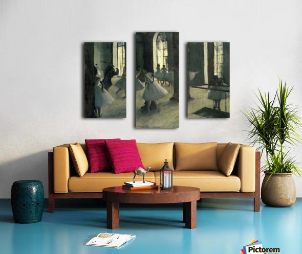 La Repetition au foyer de la danse by Degas Canvas print
