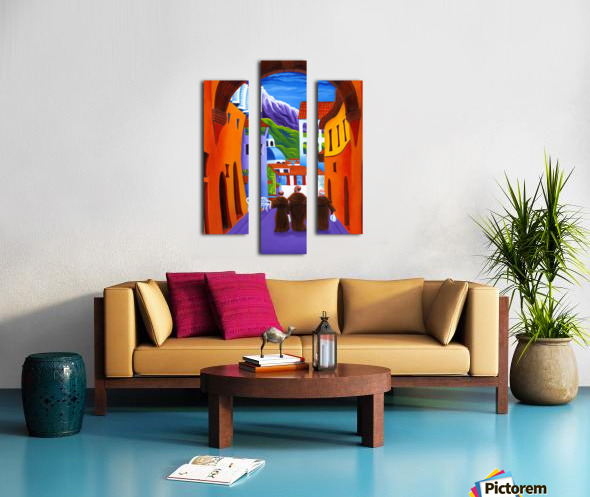 Afternoon In Assisi Canvas print