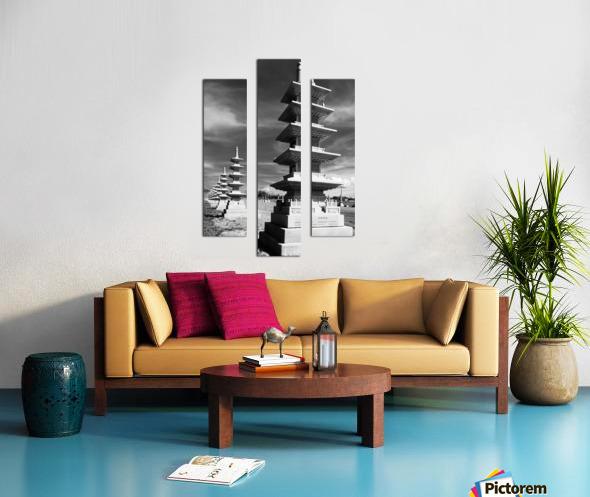 Vanishing Towers of Wutai Shan Canvas print