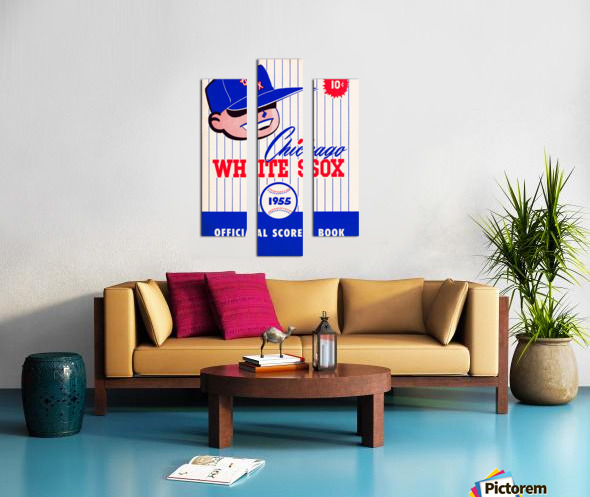 1955 chicago white sox mlb baseball score book poster Canvas print