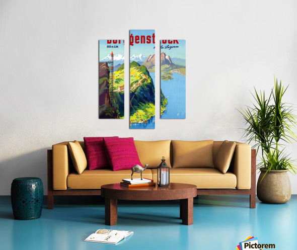 Burgenstock Canvas print