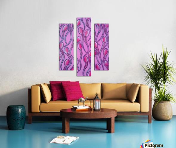 Sperms pink Canvas print